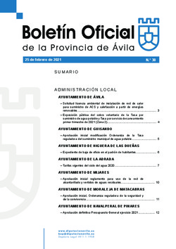 Boletín Oficial de la Provincia del jueves, 25 de febrero de 2021