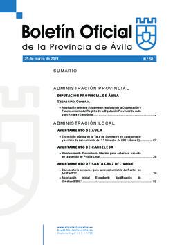Boletín Oficial de la Provincia del jueves, 25 de marzo de 2021
