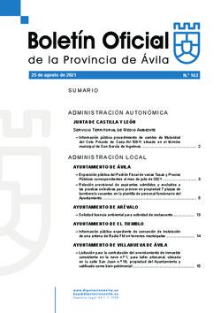 Boletín Oficial de la Provincia del miércoles, 25 de agosto de 2021