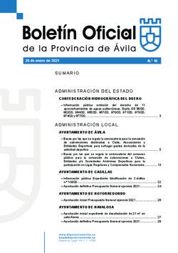Boletín Oficial de la Provincia del martes, 26 de enero de 2021