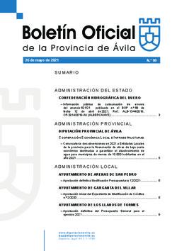 Boletín Oficial de la Provincia del miércoles, 26 de mayo de 2021