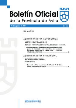 Boletín Oficial de la Provincia del jueves, 26 de agosto de 2021