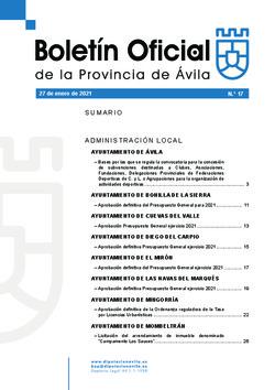 Boletín Oficial de la Provincia del miércoles, 27 de enero de 2021