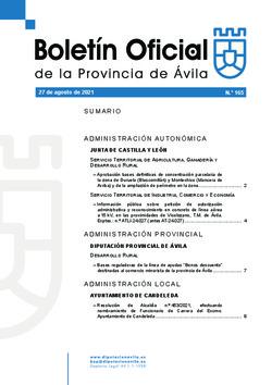 Boletín Oficial de la Provincia del viernes, 27 de agosto de 2021