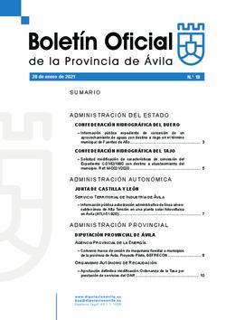 Boletín Oficial de la Provincia del jueves, 28 de enero de 2021