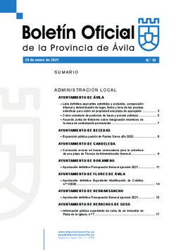 Boletín Oficial de la Provincia del viernes, 29 de enero de 2021