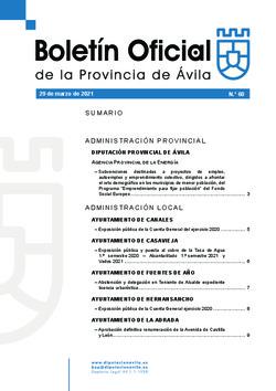 Boletín Oficial de la Provincia del lunes, 29 de marzo de 2021