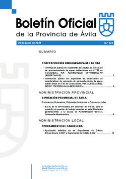 Boletín Oficial de la Provincia del martes, 29 de junio de 2021