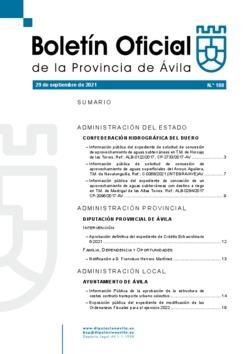 Boletín Oficial de la Provincia del miércoles, 29 de septiembre de 2021