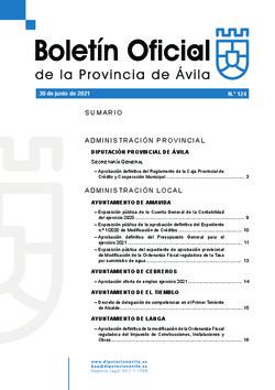 Boletín Oficial de la Provincia del miércoles, 30 de junio de 2021