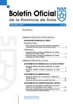 Boletín Oficial de la Provincia del viernes, 30 de julio de 2021