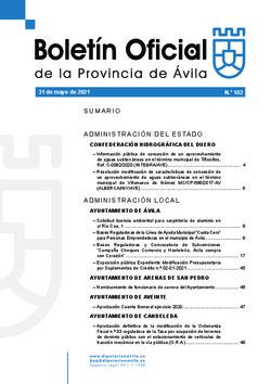 Boletín Oficial de la Provincia del lunes, 31 de mayo de 2021