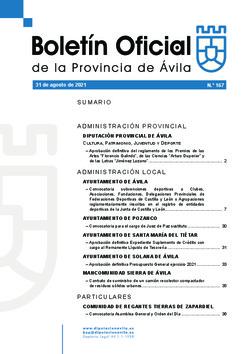 Boletín Oficial de la Provincia del martes, 31 de agosto de 2021