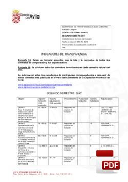Contratos formalizados 2º semestre 2017.