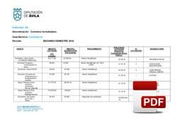 Contratos formalizados 2º semestre 2018.