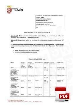 Historial de los contratos formalizados el 1º semestre 2017.
