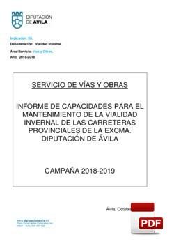 Recursos de vialidad invernal 2018-2019