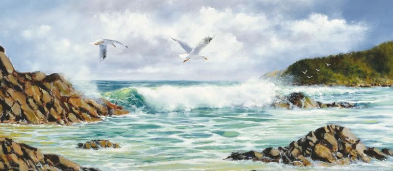 Exposición de pintura de Asociación de Pintores con la Boca y con el Pie