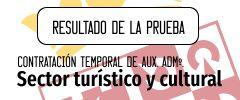 Resultado de la prueba para auxiliares administrativos para el sector turístico y cultural