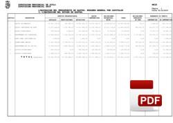 Liquidación del presupuesto de gastos 2019