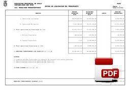 Resultado presupuestario liquidación 2015