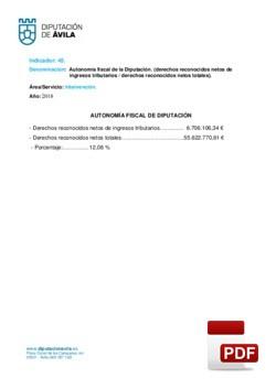 Autonomía fiscal de la Diputación 2018