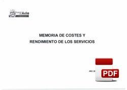 Costes/rendimientos de los servicios ejercicio 2018.