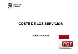Costes/rendimientos de los servicios ejercicio 2020.