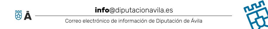 Correo de información de la Diputación de Ávila