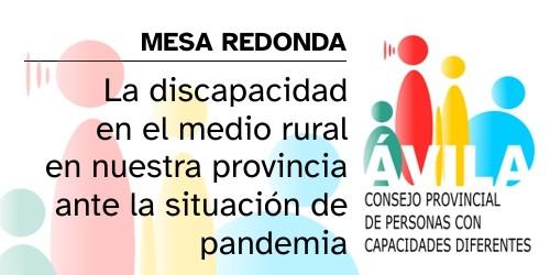 Mesa Redonda: La discapacidad en el medio rural en nuestra provincia ante la situación de pandemía