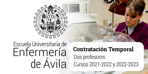 Contratación temporal de dos profesores para la Escuela de Enfermería de Ávila
