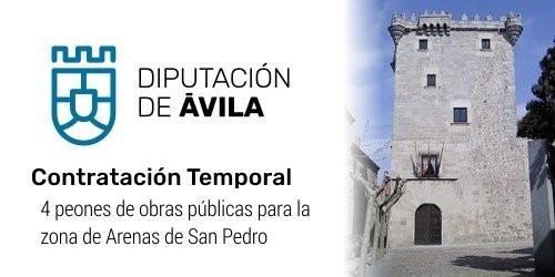 Cuatro peones de obras públicas para la Zona de Arenas de San Pedro