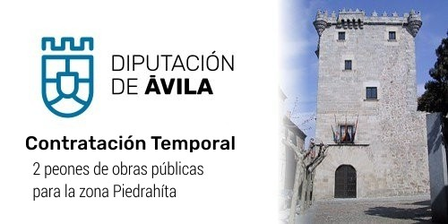 Dos peones de obras públicas para la Zona de Piedrahíta
