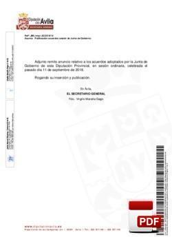 Orden del día, Pleno 17/2018 del miércoles, 19 de septiembre de 2018