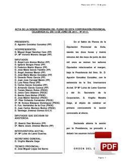 Pleno 07/2011 del lunes, 13 de junio de 2011