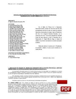 Pleno 12/2011 del martes, 06 de septiembre de 2011