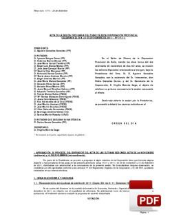 Pleno 17/2011 del viernes, 23 de diciembre de 2011