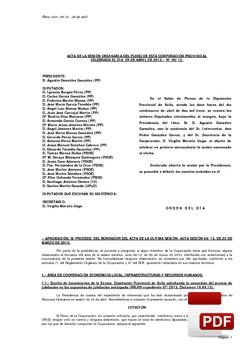 Pleno 5/2013 del lunes, 29 de abril de 2013