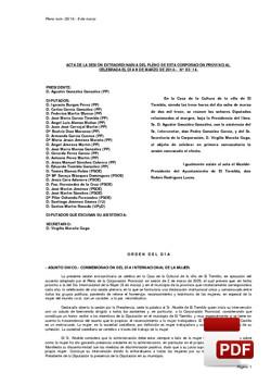 Pleno 3/2014 del jueves, 06 de marzo de 2014
