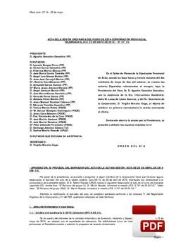 Pleno 7/2014 del lunes, 26 de mayo de 2014