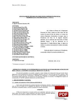 Pleno 9/2014 del lunes, 30 de junio de 2014