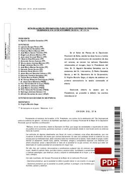 Pleno 13/2014 del lunes, 24 de noviembre de 2014