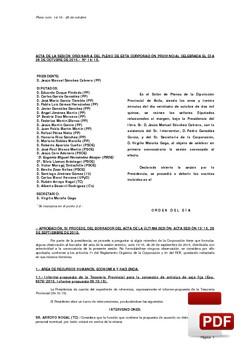 Pleno 14/2015 del lunes, 26 de octubre de 2015
