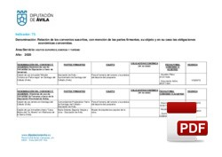 Relación de Convenios suscritos y en vigor: Asuntos Europeos