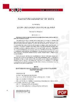 Reglamento de gestión documental y archivo de la Diputación Provincial de Ávila,