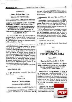 Ordenanza reguladora de la tasa por el otorgamiento de licencias para realizar actuaciones en los márgenes de las carreteras provinciales..
