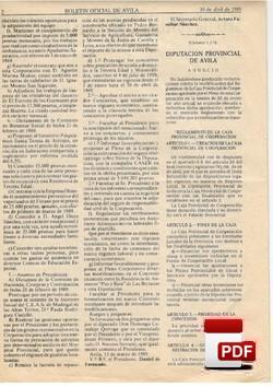 Reglamento de la Caja Provincial de Crédito y Cooperación Municipal.