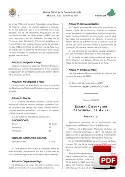 Reglamento de la Gestión del Boletín Oficial de la Provincia.