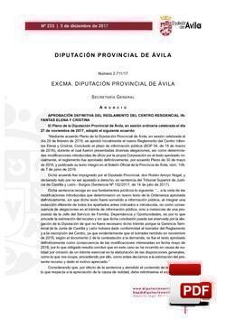 Reglamento del Centro Residencial Infantas Elena y Cristina.