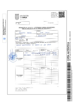 Declaración de intereses, actividades y bienes patrimoniales de Juan Carlos Sánchez Mesón